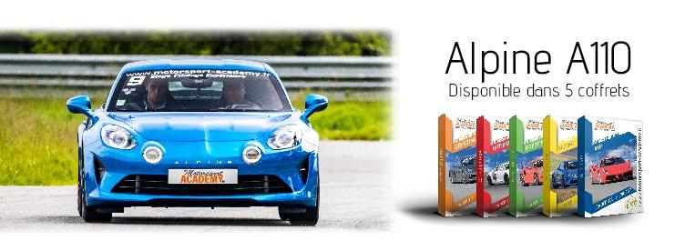 Alpine A110 présente dans 5 box pilotage