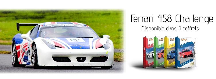 Ferrari 458 Challenge présente dans 4 box pilotage