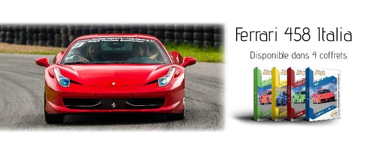 Ferrari 458 Italia présente sur 4 box pilotage
