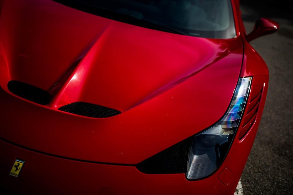 L'avant de la Ferrari 458 Italia