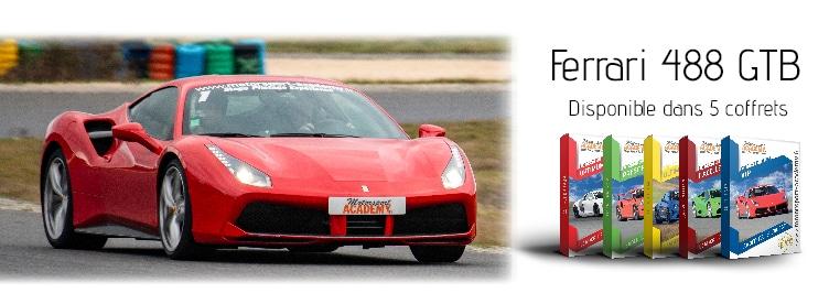 Ferrari 488 GTB présente dans 5 box pilotage