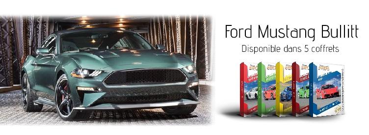 Ford Mustang Bullitt présente dans 5 box pilotage