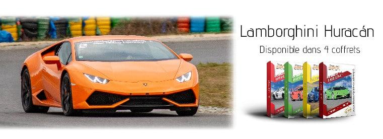Lamborghini Huracán présente 4 box pilotage