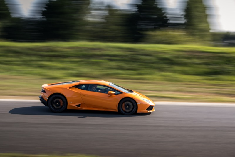 Lamborghini Huracan sur Piste