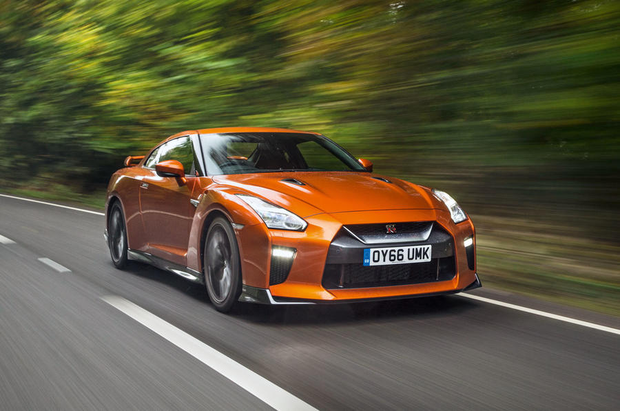 Nissan GT-R driving