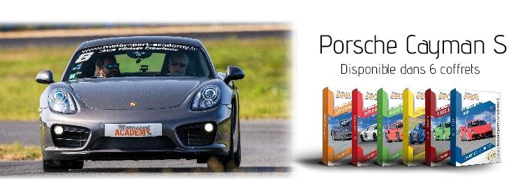 Porsche Cayman S présente dans 6 box pilotage