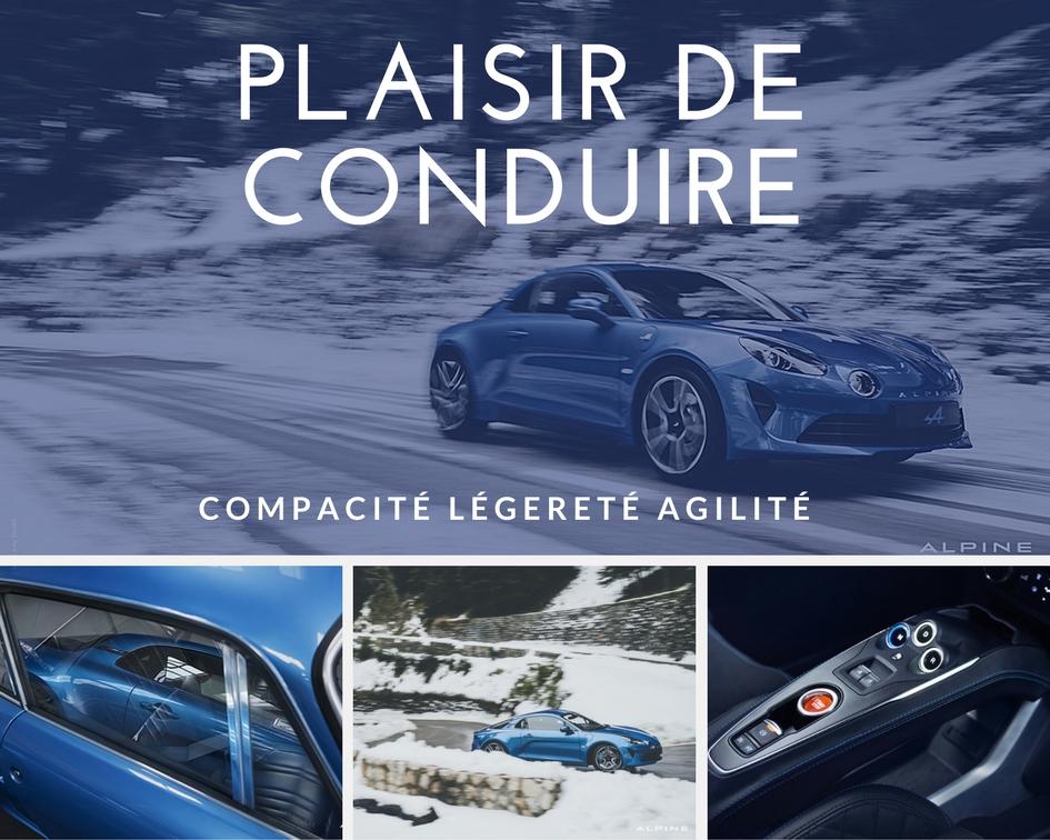le plaisir de conduire par alpine