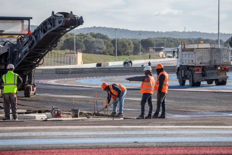 travaux circuit paul ricard f1