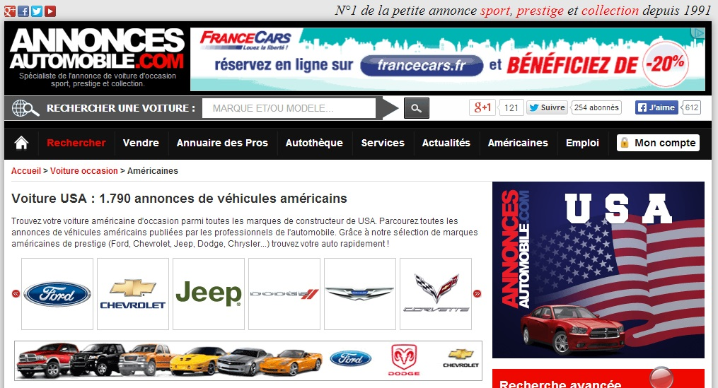 Annonce Automobile : voiture d'occasion sport, prestige et collection