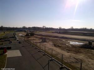 Travaux sur le circuit des 24h du Mans