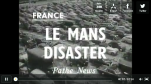 Image de la vidéo de l'accident des 24 heures du Mans de 1955