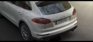 Image de la vidéo de présentation de la Porsche cayenne