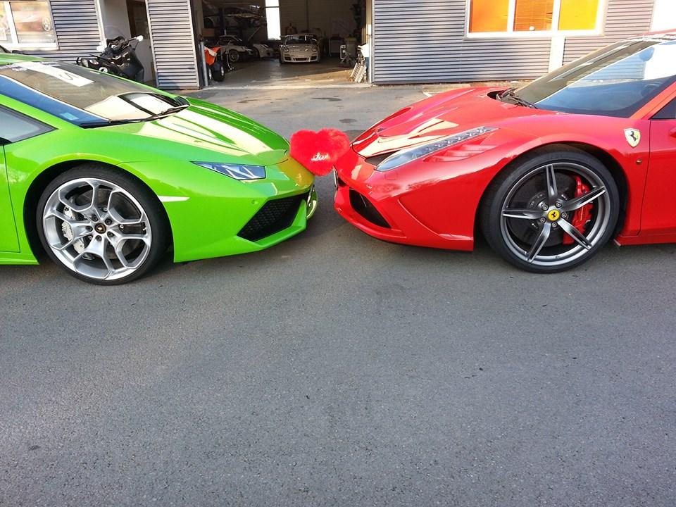 Ferrari & Lamborghini font la paix