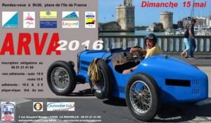 affiche traversée pays rochelais voiture collection