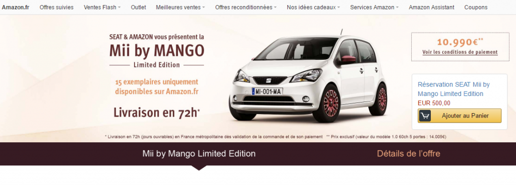 voiture amazon